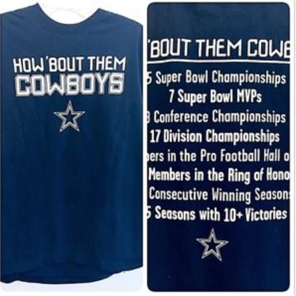 d1b935059 Cowboys Team Apparel Other - DALLAS COWBOYS Shirt Large Blue NFL  Championships